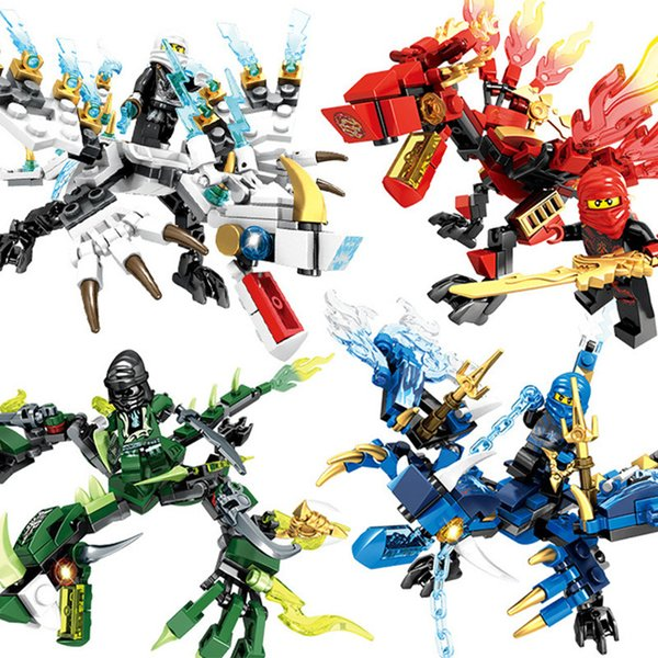 best selling Children's toys assembling building blocks Dragons series Phantom Ninja collage puzzle building Blocks