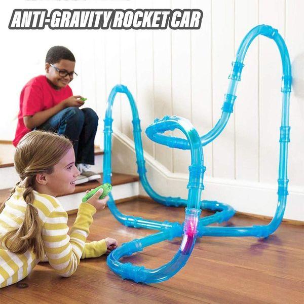 best selling Anti gravity remote control rocket car racing tube fan track