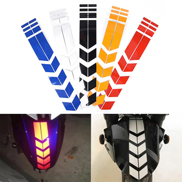 top popular 34*5.5cm Motorcycle Tape Reflective Stickers Wheel Car Decals On Fender Waterproof Warning Safety Film Decoration Free DHL 2021