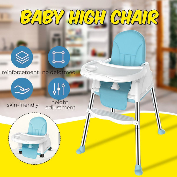 best selling Portable Baby High Chair Adjustable Kids Safety Dining High Chair Booster with Seat Wheels Cushion Multifunctional Baby Chair LJ201110