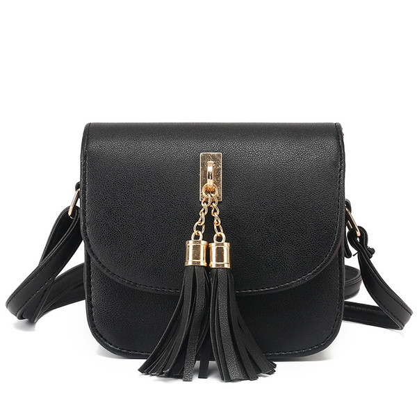 fashion 2020 small chains candy color tassel messenger bags female handbag shoulder flap women bag bolsa feminina
