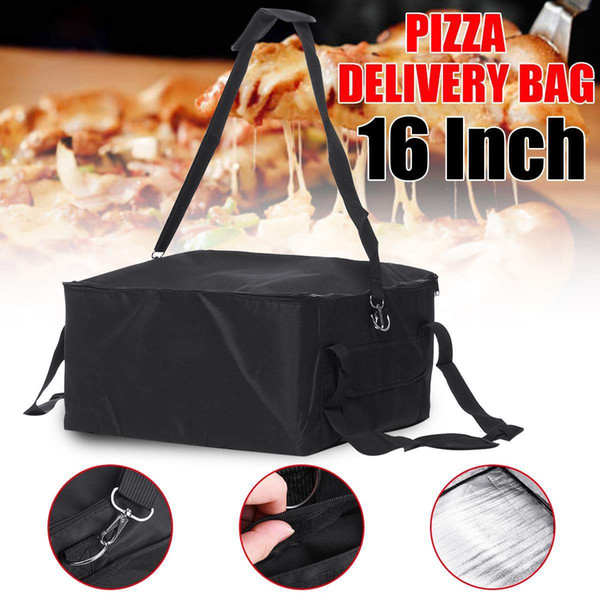 best selling 16 Inch Portable Insulated Thermal Food Pizza Delivery Bag 42x42x23cm Insulated Picnic Lunch Box ice pack vehicle insulation bag 201015