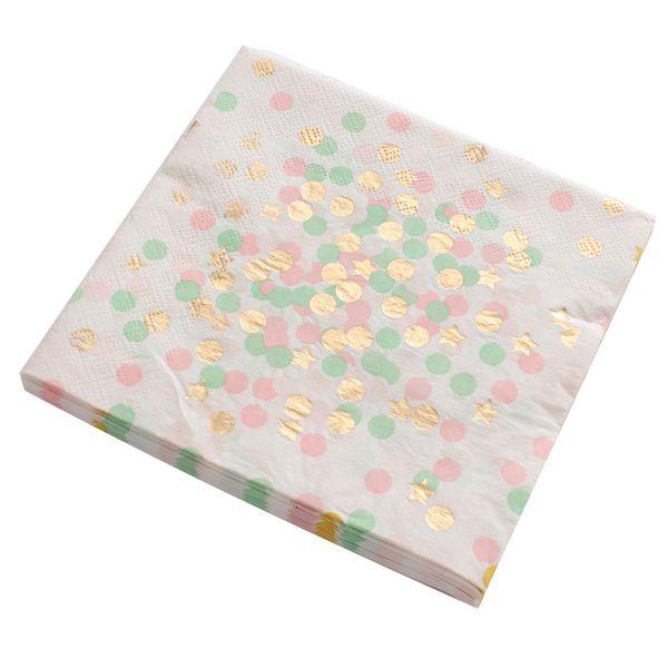 best selling Gold Towel 1pack lot Paper Birthday Napkins For Hot Boy Girl Gender Reveal Party Tissue Napkin Decoration Serv