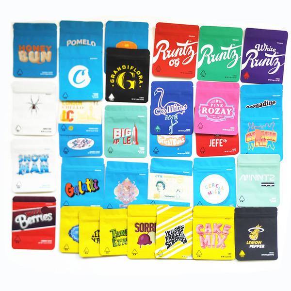 top popular Lemon nade White Runty OG Runtz 3.5G Cookies Touch Skin Zippers JEFE Cookies Bags sf Bag Big Apple Berry Pie Packaging Bags 2021