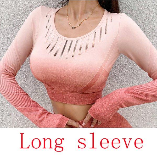 Manga longa rosa