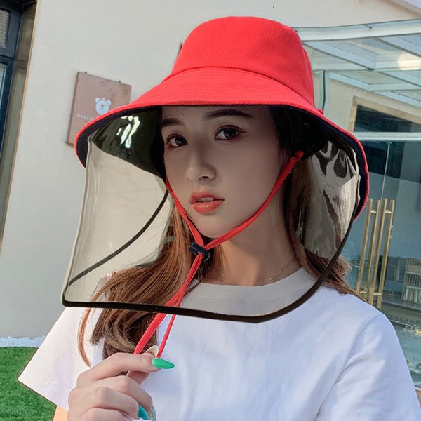 Red Black Double sided Strap Detachable Anti Droplet Mask