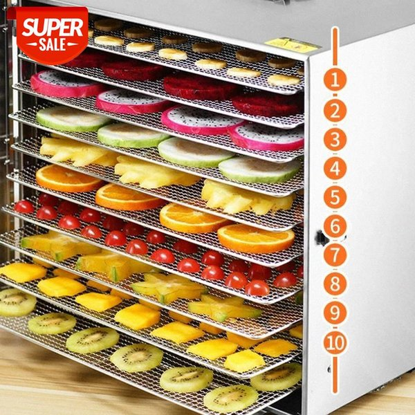 best selling 10 Trays Food Dehydrator Stainless Steel Pet Snacks seafood Scented tea Dryer Fruit Vegetable Herb Meat Dry Machine 110v 220V #Jz0l