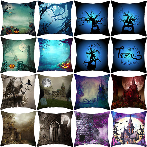 best selling Pillow New Peach Fur Cover Halloween Household Goods Cushion Cover Waist Pillow Cover