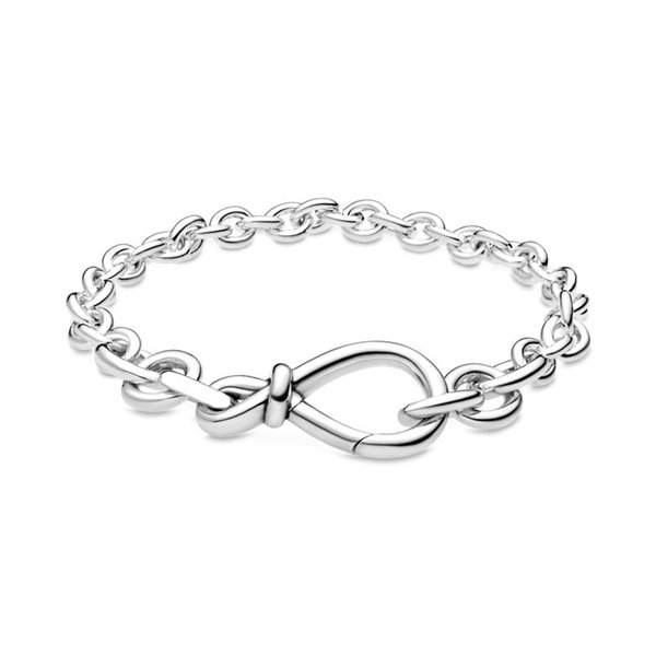 top popular 925 Sterling Silver luxury women's jewelry European and American snake chain CLASP bracelet fit Pandora pendant scattered bead DIY making 2021