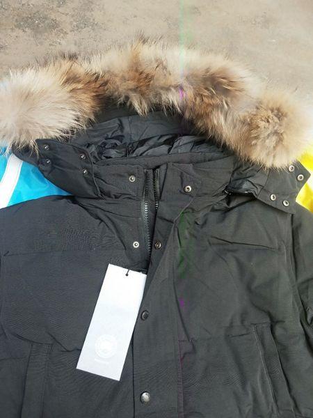 best selling Winter Fourrure Down Parka Homme Jassen Chaquetas Outerwear Wolf Fur Hooded Fourrure Manteau Wyndham Canada Down Jacket Coat Hiver Doudoune