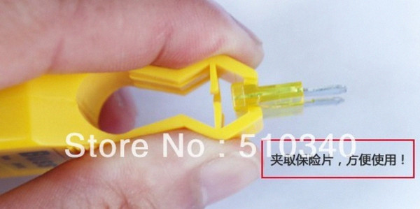 top popular Wholesale-New great auto tool,car fuse tester free shipping fuse clip dnzr# 2021