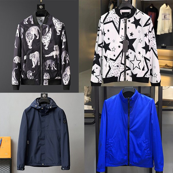 top popular HOT Embroidery Men Jacket Coat Man Leisure business Brand letters Hip Hop Streetwear Men Jacket Coat Clothes winter Sping M-3XL 2020