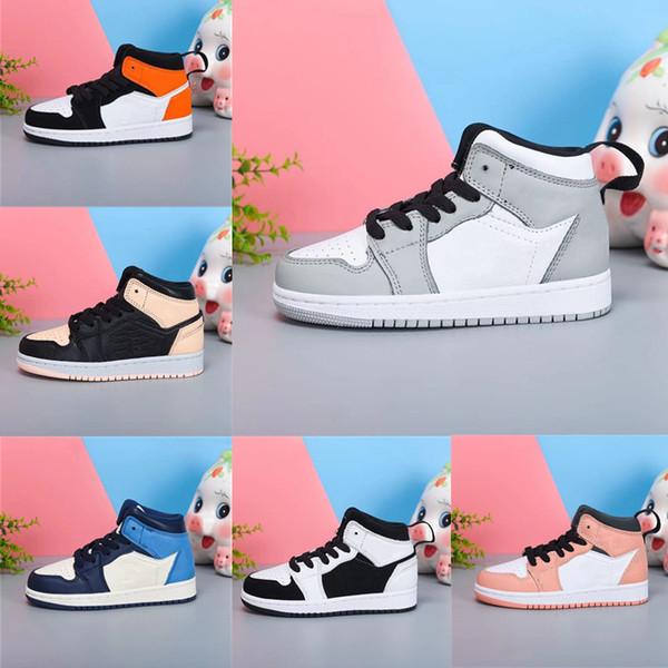 best selling Shattered Backoard Infant 1s Kids basketball shoes Smoke Grey Pink Quartz Boy & girl children Crimson Tint athletic sports sneakers