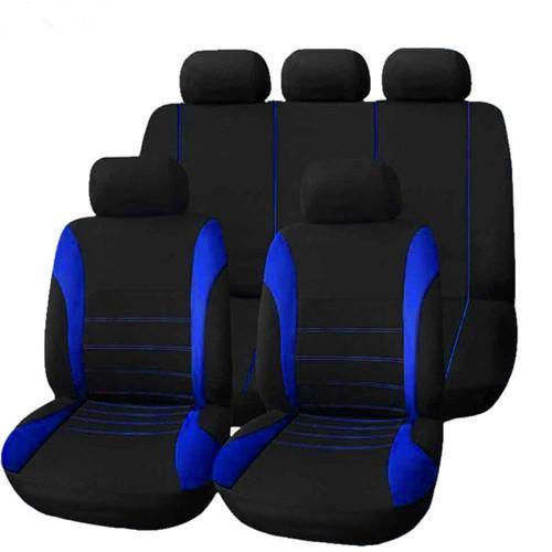 Cinq sièges bleu