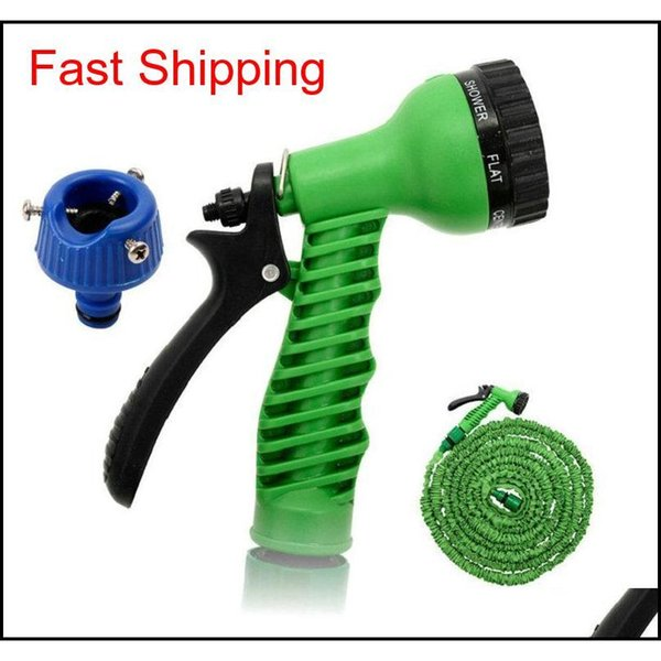 best selling 3x Expandable Magic Flexible Water Hose With 7in1 Spray Gun Nozzle 25ft 50ft 75ft 100ft 125ft Irrigation System Gar qylmaL homes2011
