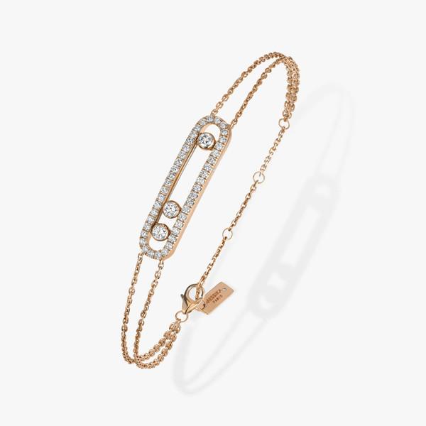 Розовое золото Браслет-925 Silver