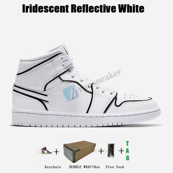 1s- Iridescent riflettente bianco