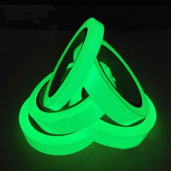 best selling Luminous Tape Self Adhesive PET Warning Tape Night Vision Glow In Dark Wall Sticker Fluorescent Emergency Sticker 157 G2
