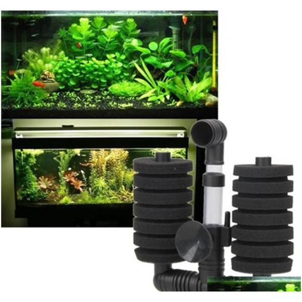 best selling 5pcs lot Fish Tank Aquarium Low Noise Oxygen Sponge Corner Filter Pump Air Driven qylcGT bde_luck