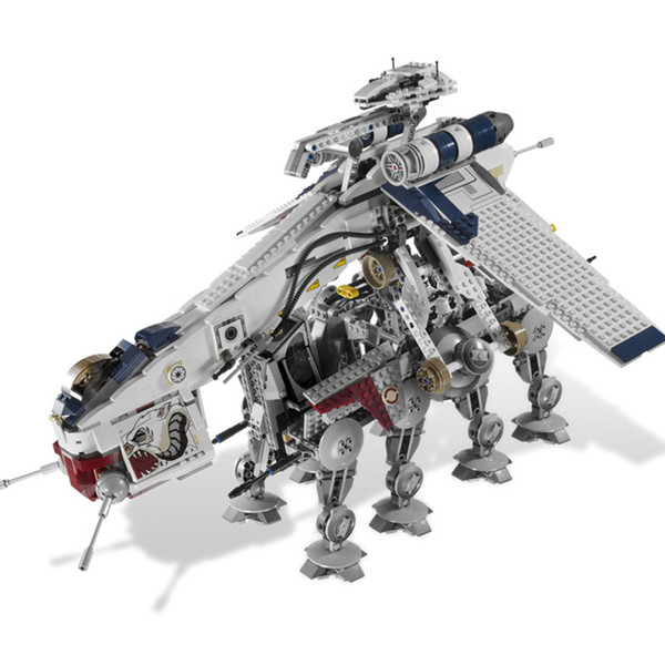 best selling 05053 1788Pcs Genuine StarWass Republic Dropship with AT-OT Walker Set Building Blocks Bricks Compatible Toys Hobby to collect 1008