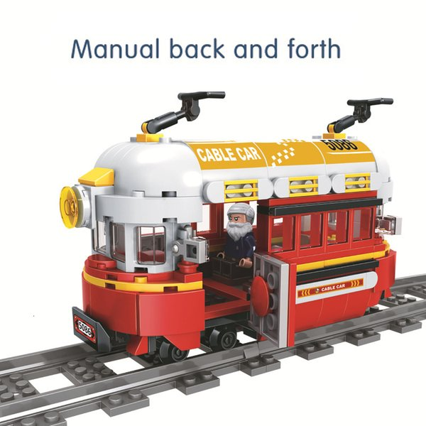 top popular New hot compatible ed train series ding ding small train toy ed puzzle DIY early education Childrens birthday present 2020