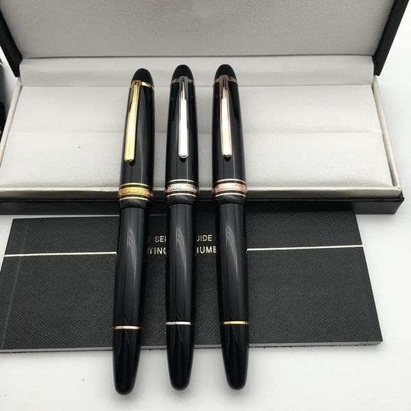 top popular Luxury Msk-149 Black Resin Cassic Fountain pen with 4810 iridium Nib office school supplies High quality Writing ink pen with Serial Number 2021