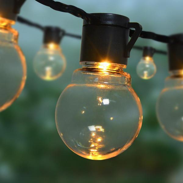 best selling LED Garden Lawn lamp 2.5M 5M 110V 220V Waterproof Globe Bulb String light Outdoor Yard Landscape Party Christmas decor lantern C1004