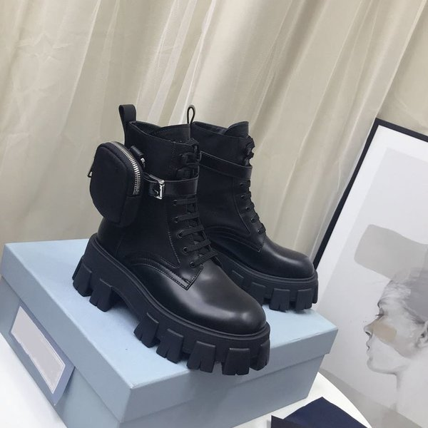 top popular Women Designers Rois Boots Ankle Nylon Combat Boot and Platform Outdoor Booties winter ankle nylon bouch attached ankle with box 2020