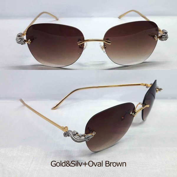 Goldsilv ovalBrown.