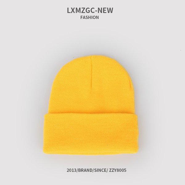 Sombrero de punto fluorescente - Pollo Amarillo