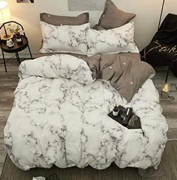 Moderne Bettwäsche.