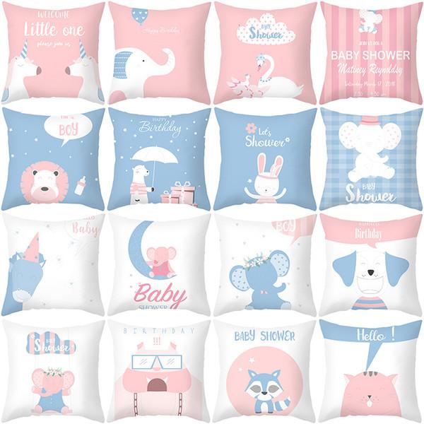 best selling Animal Peach Ins Series Style Cute Skin Plush Pillow Case Nordic Cartoon White Series Sofa Cushion Cover