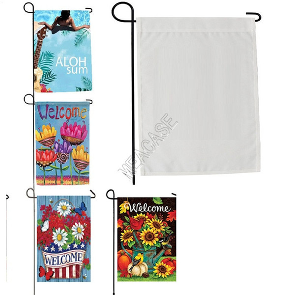 best selling Sublimation Polyester fiber blank garden Flag for Valentine's Day Easter Day hot transfer printing Banner Flags consumables SALE D102904