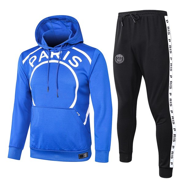 P.S.G AJ Blue Hooded