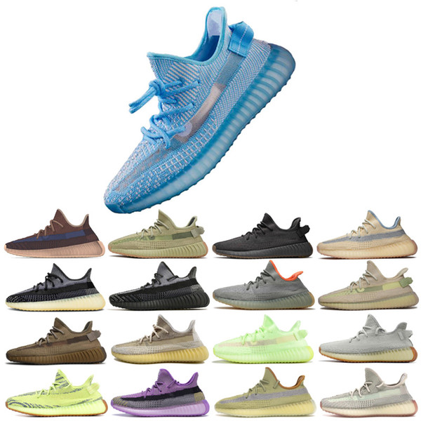 top popular New Kanye West Static Outdoor Shoes ABEZ Israfil Cinder Desert Sage Earth Tail Light Zebra Womens Mens Trainers Sneakers Size 13 2021