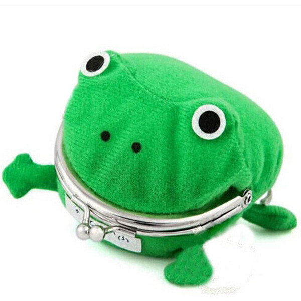top popular Pencil Case Frog Change Purse Wallet Anime Corduroy Plush Collect Cute Purse Family Natal Daily Storage Keep Money Purse 2021