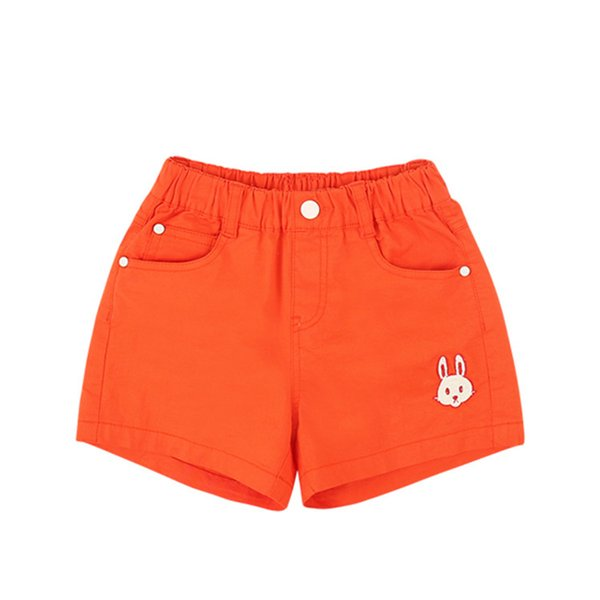 Pantalones cortos de color naranja