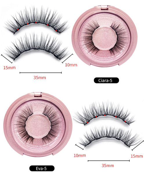 best selling No glue Magnetic eyelashes Long lasting Reusable extension eyelash Comfortable Magnetic Eyeliner Five piece make up set makeup mink eyelash