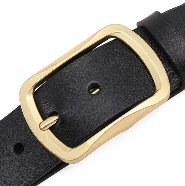 top popular 2019 Designer Black Brand Belts for Mens Genuine Leather Male Women Casual Jeans Vintage Fashion High Quality Strap Waistband 2020 new 2021