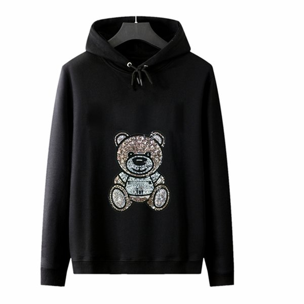 top popular HOT Brand Letter M Hoodies for Men Women Printed with Cute Bear Hoodie Sweater Tops Men Luxury Letters Sweatshirt Designer Streetwear 2020