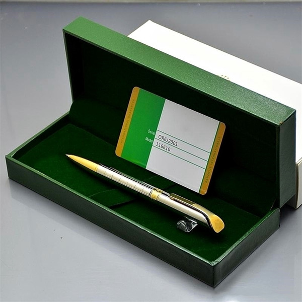 Luxury Christmas Gift - High quality Rlx Branding Metal Ballpoint pen Ball point pen Stationery office school supplies With Box Packaging