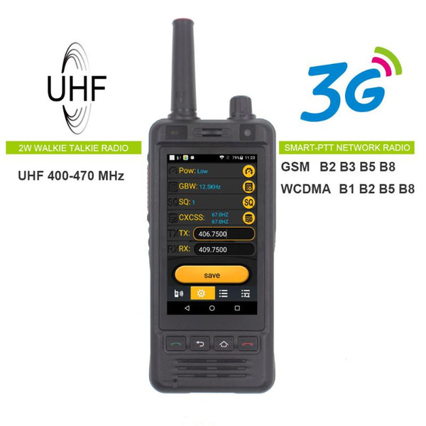 best selling Anysecu W5 Network Radio 3G Android 6.0 Mobile Phone IP67 5000mAh PRadio UHF Walkie Talkie Bluetooth Wifi GPS REAL PZELLO