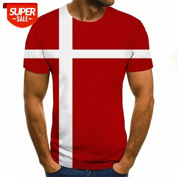 best selling 2020 new summer men's T-shirt 3D flag printing round neck casual t shirt T-shirts for men #HX0D