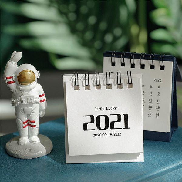 top popular NEW 2021 Creative Mini Desk Calendar Simple Nordic Calendar Desktop Plan This Decoration Small Fresh Desk Calendar Office Decoration 2021