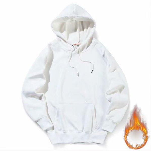 Hoodie solide blanc