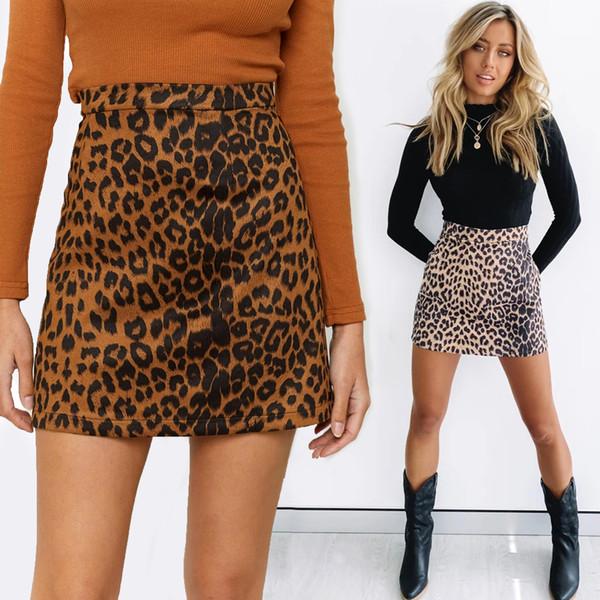 top popular High waist leopard skirts slim skirt sexy women mini dress woman clothes will and sandy gift 2021