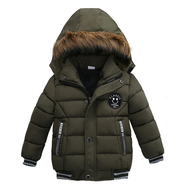 top popular Autumn Winter Baby Jacket Boys Children Clothing Kids Hooded Warm Outerwear Coat For Boy Clothes 2 3 4 5Yrs Y200901 2021