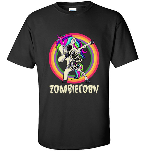 sport zombiecorn dabbing zombie unicorn dance halloween tshirts hiphop sweatshirt funny rainbow pony skeleton t shirt men clothes