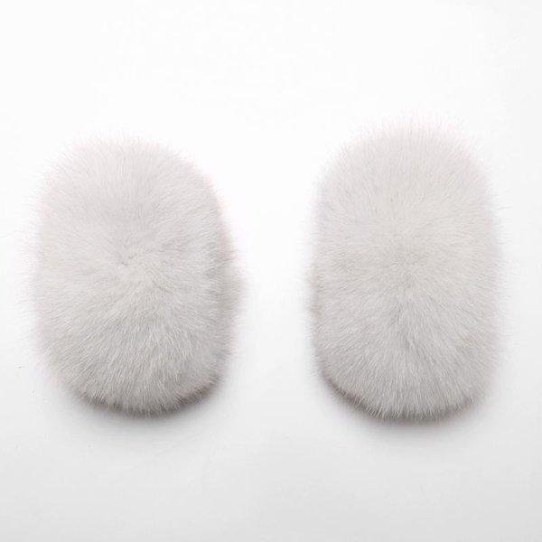 Piel blanca de zorro