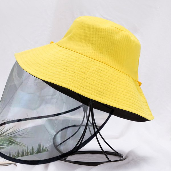 Yellow Black Double sided Strap Detachable Anti Droplet Mask